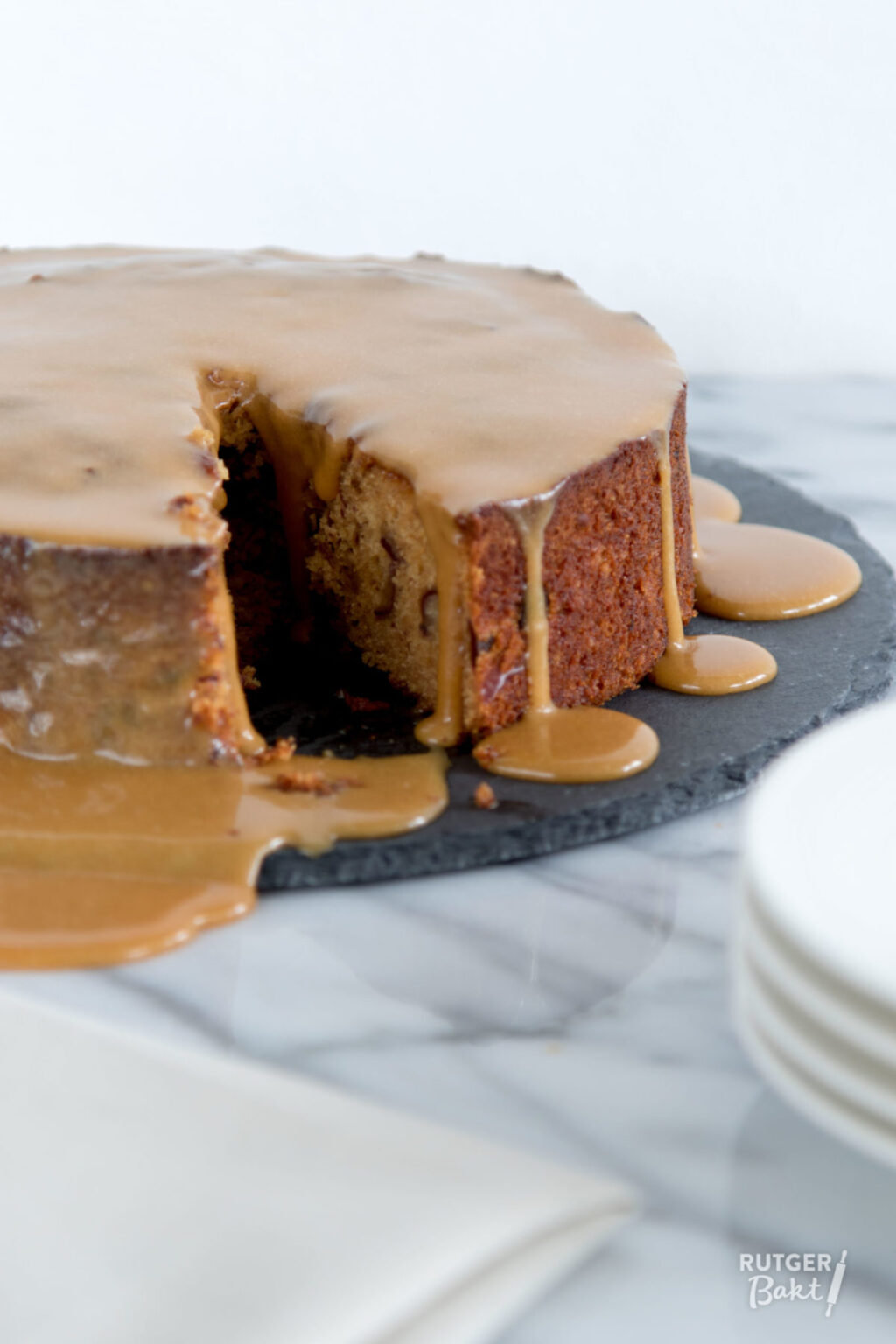 Sticky toffee koffie pudding (of taart) – recept
