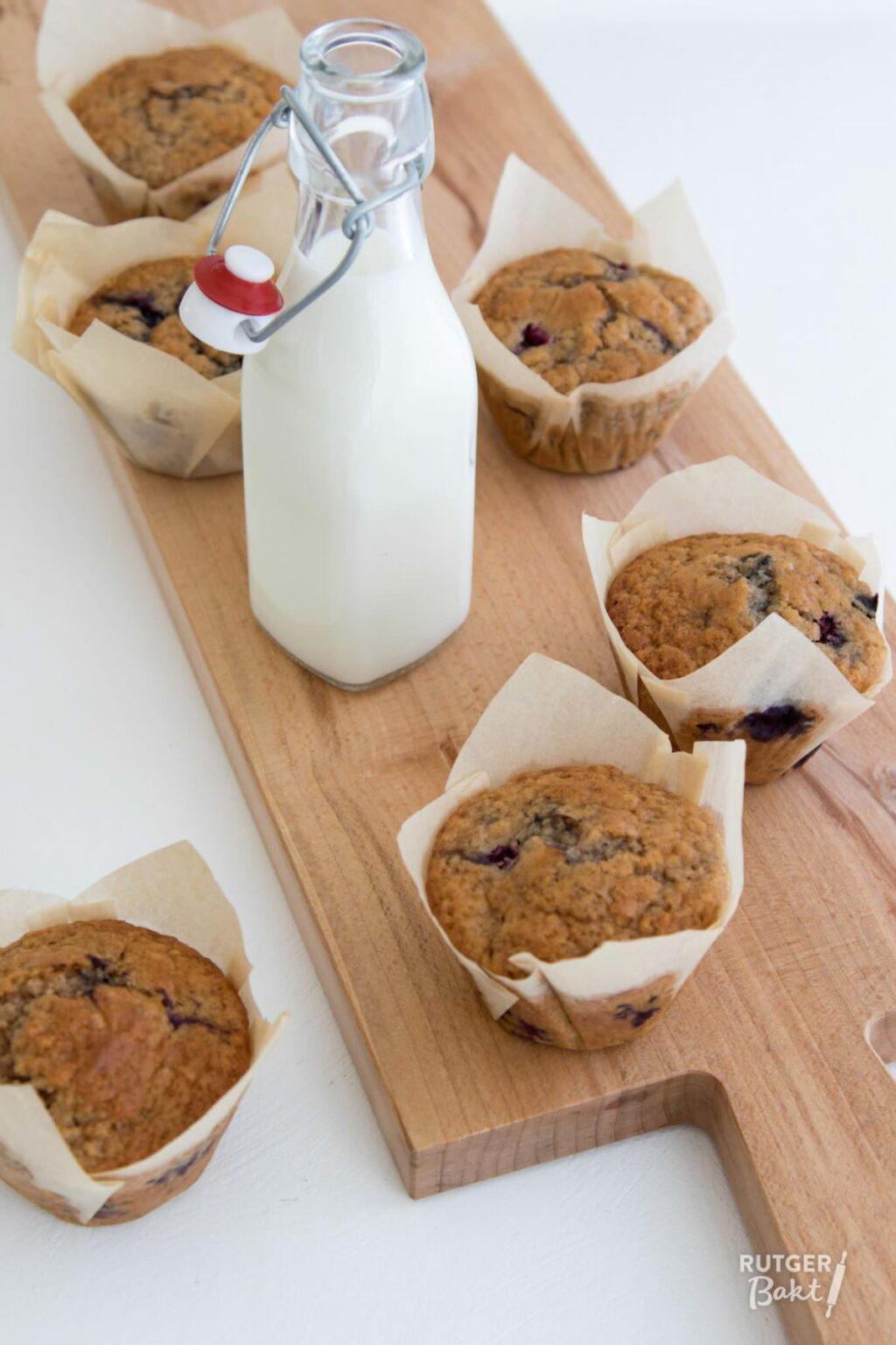 Muffins met blauwe bessen en kaneel – recept
