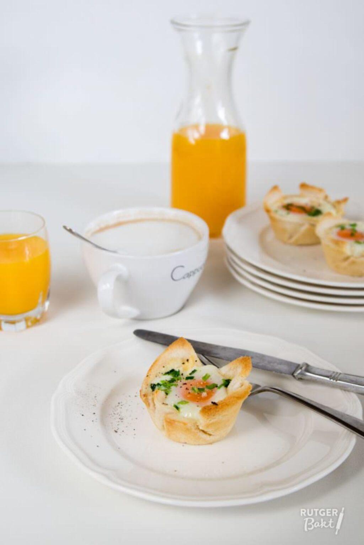 Ei in toast met kaas en bieslook – recept