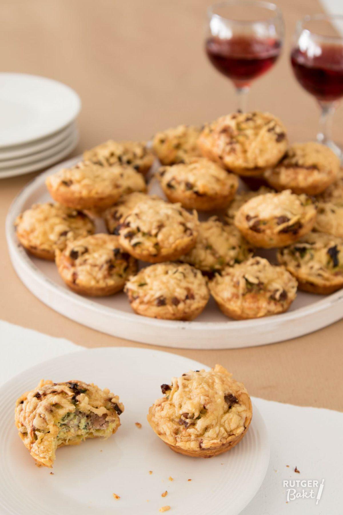 Miniquiches met gehakt, prei en kerrie – recept