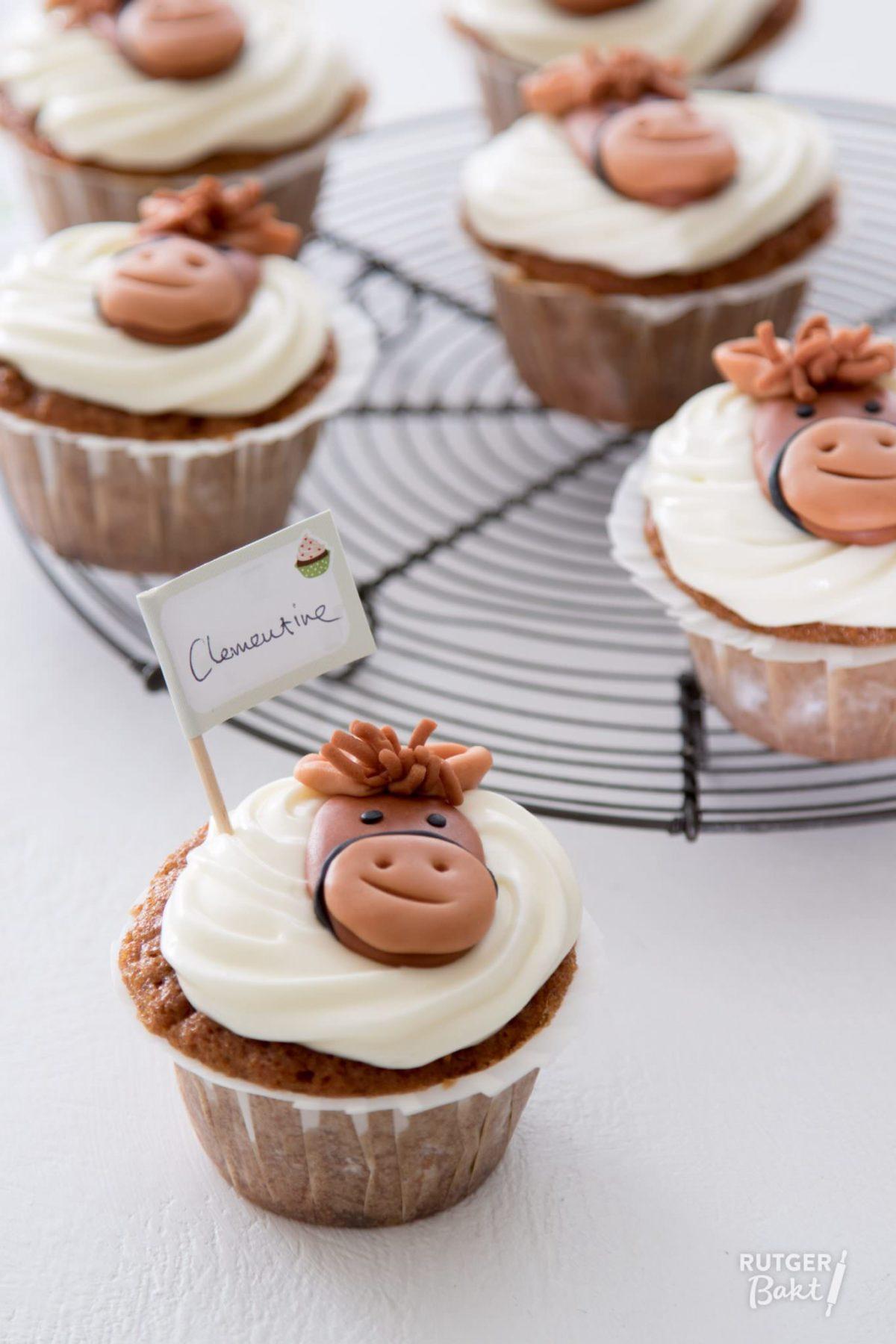 Makkelijke carrot cupcakes voor Clementine