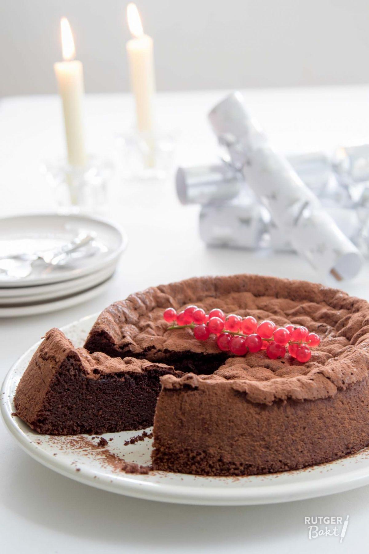 Cacaofudgecake zonder bloem – recept
