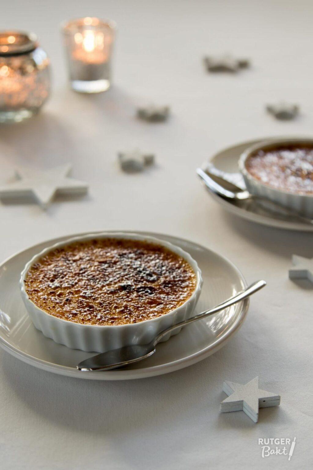 Crème brûlée met cranberry's en sinaasappel – recept