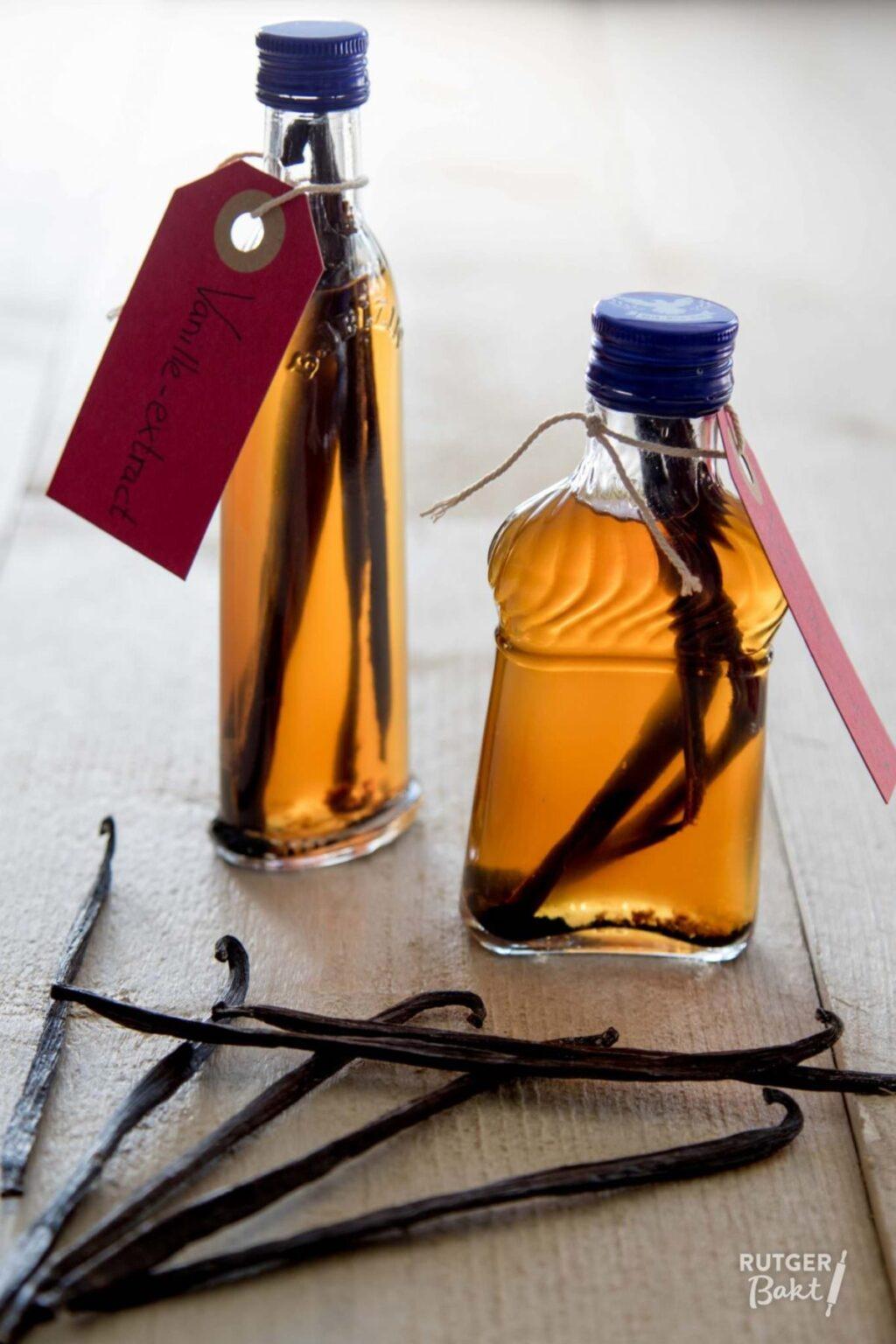 Homemade vanille-extract om weg te geven!
