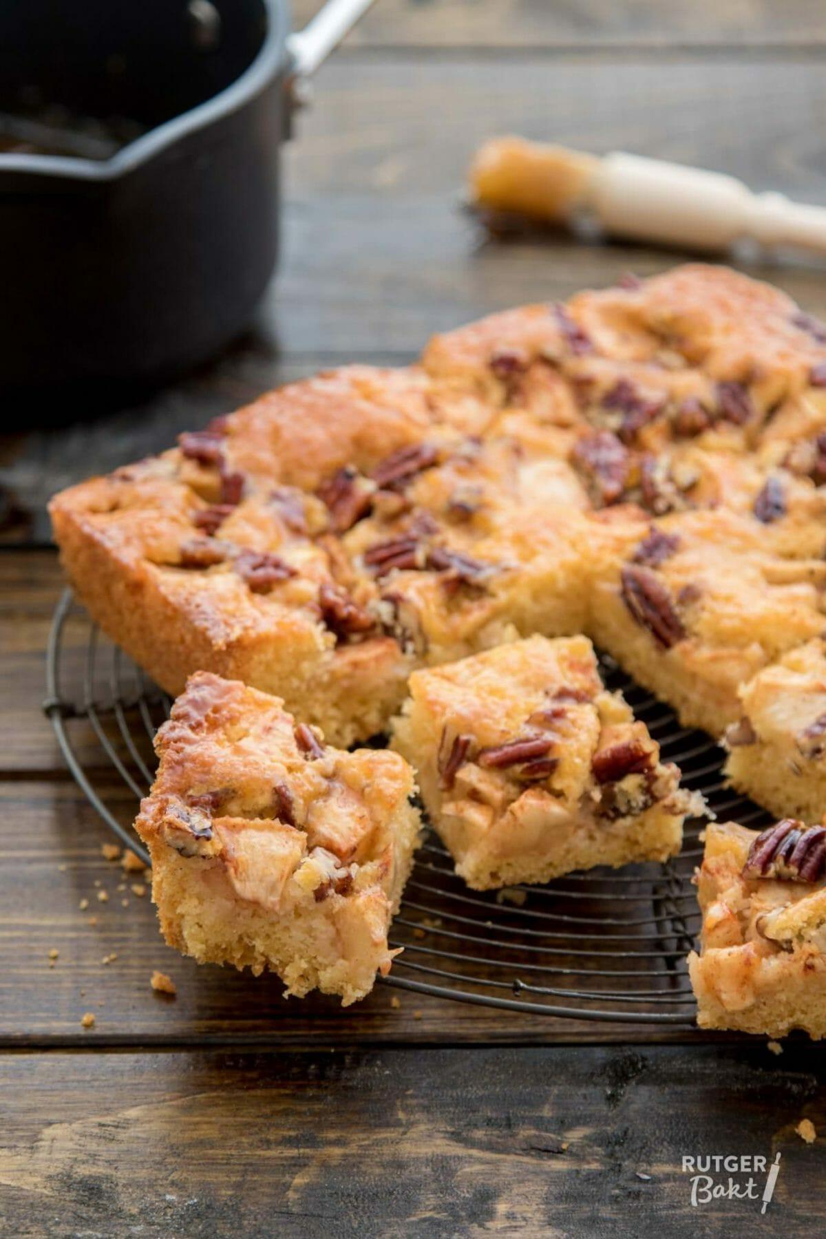 Appelcake met pecannoten – recept