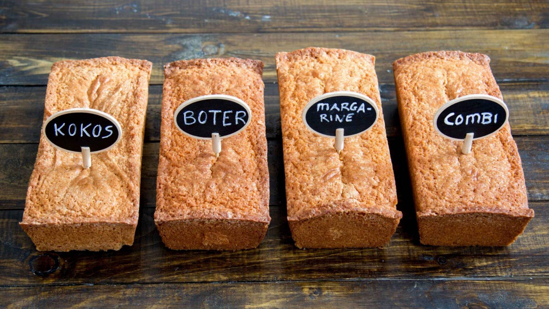 In De Test Cakes Met Verschillende Vetstoffen Rutger Bakt