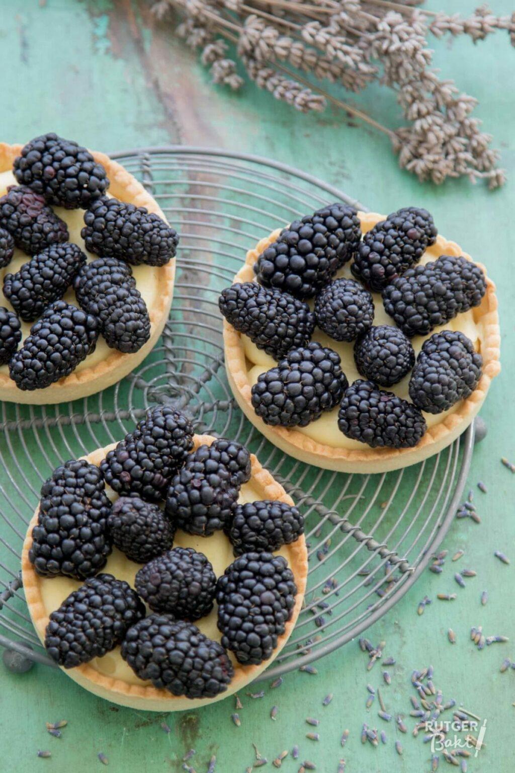 Tartelettes met bramen en lavendel – recept