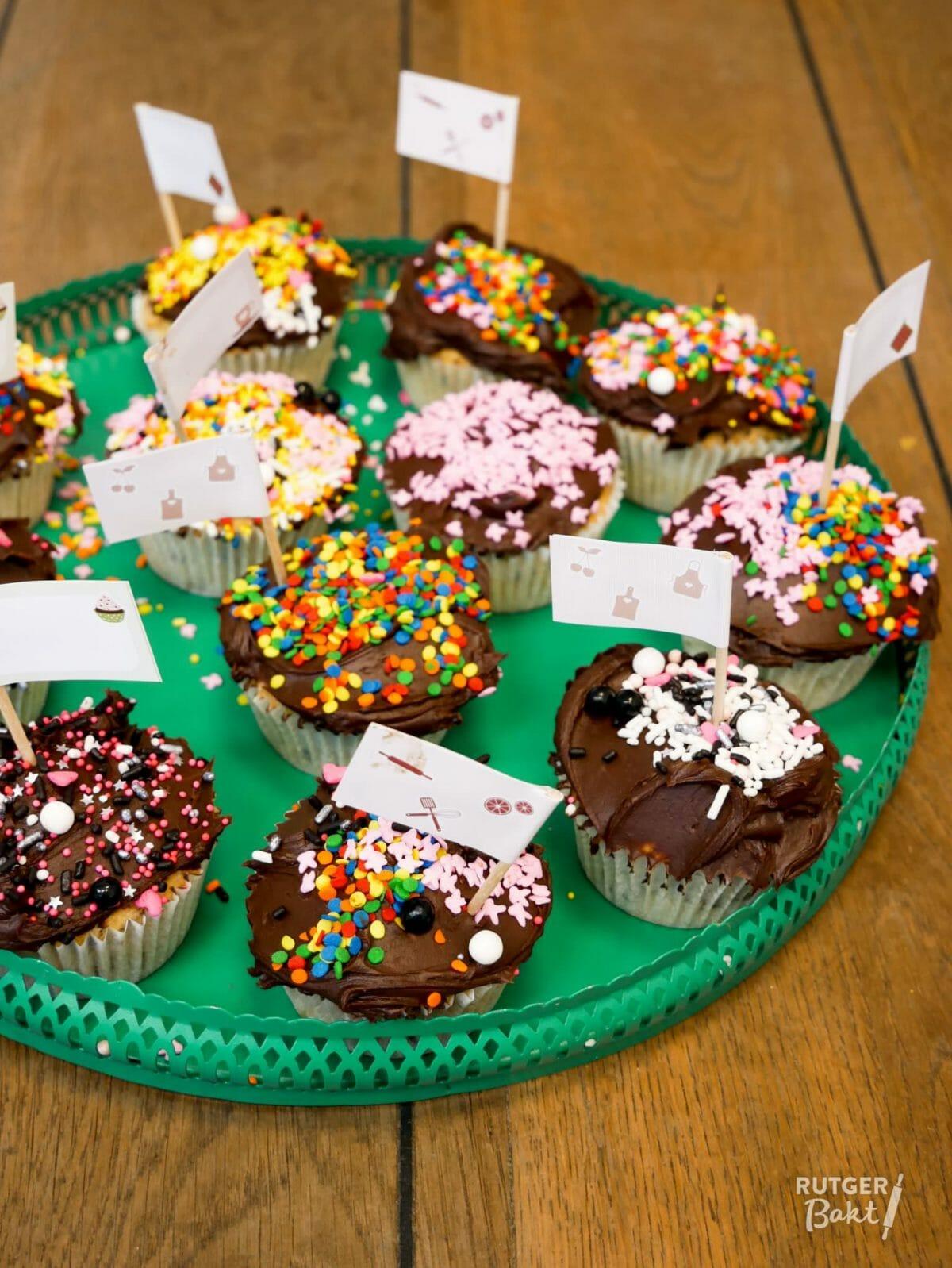 Cupcakes met stukjes chocolade – recept