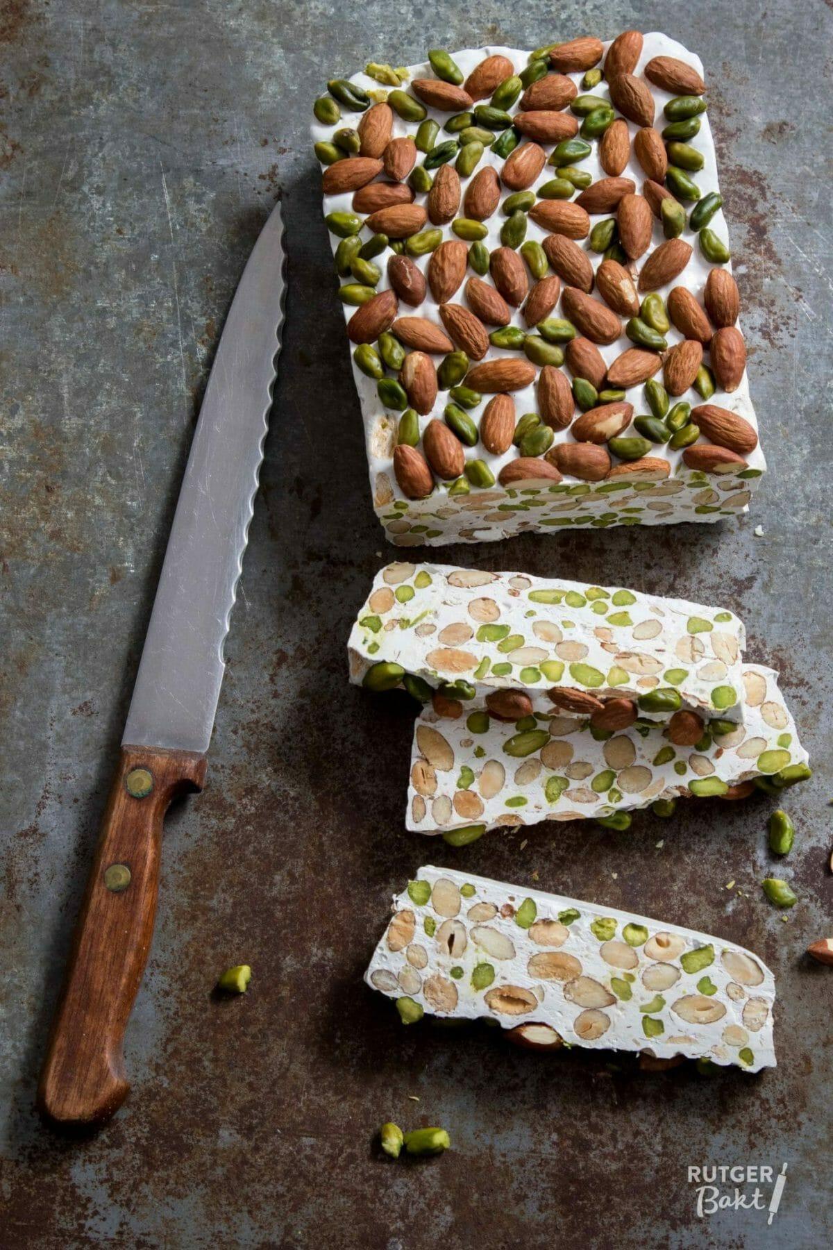 Nougat met amandel en pistache – recept