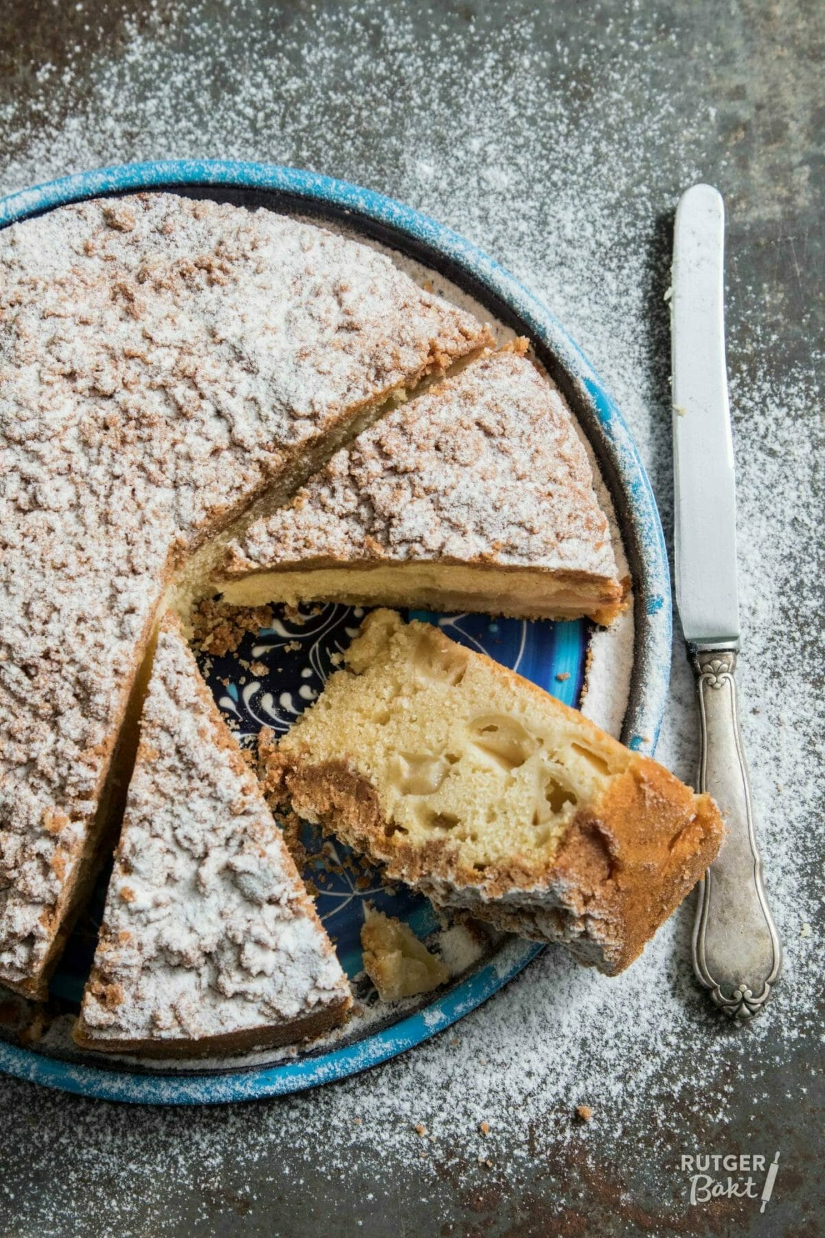 Appel kruimel cake – recept