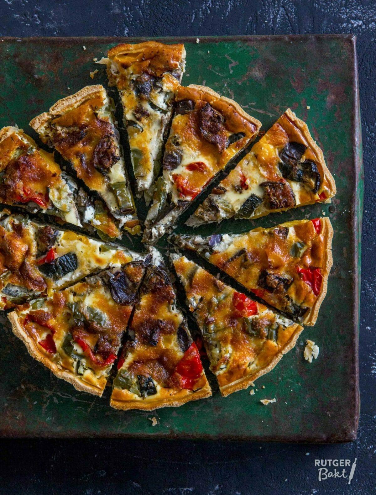 Quiche met gegrilde groenten – recept