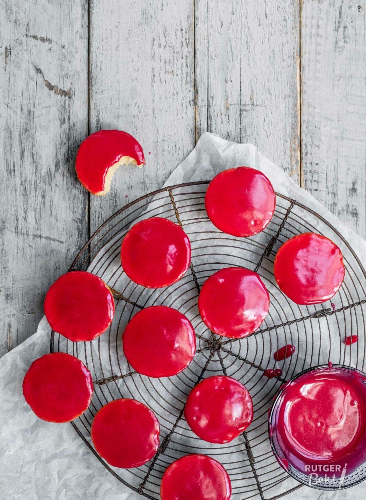 Roze koeken recept uit Koekjesbijbel