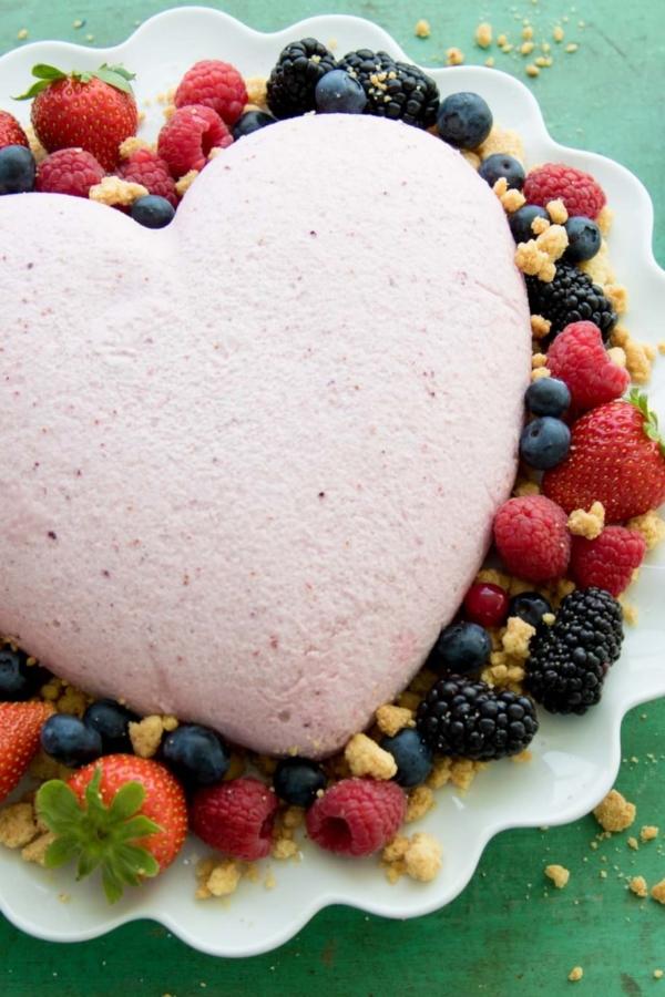Mousse van rood fruit in een hart – recept