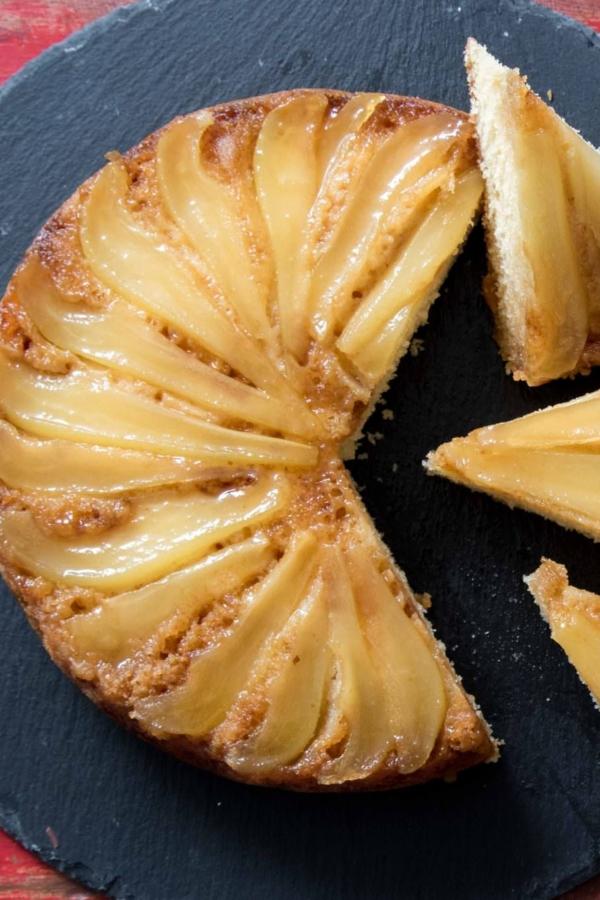 Peren upside down cake – recept