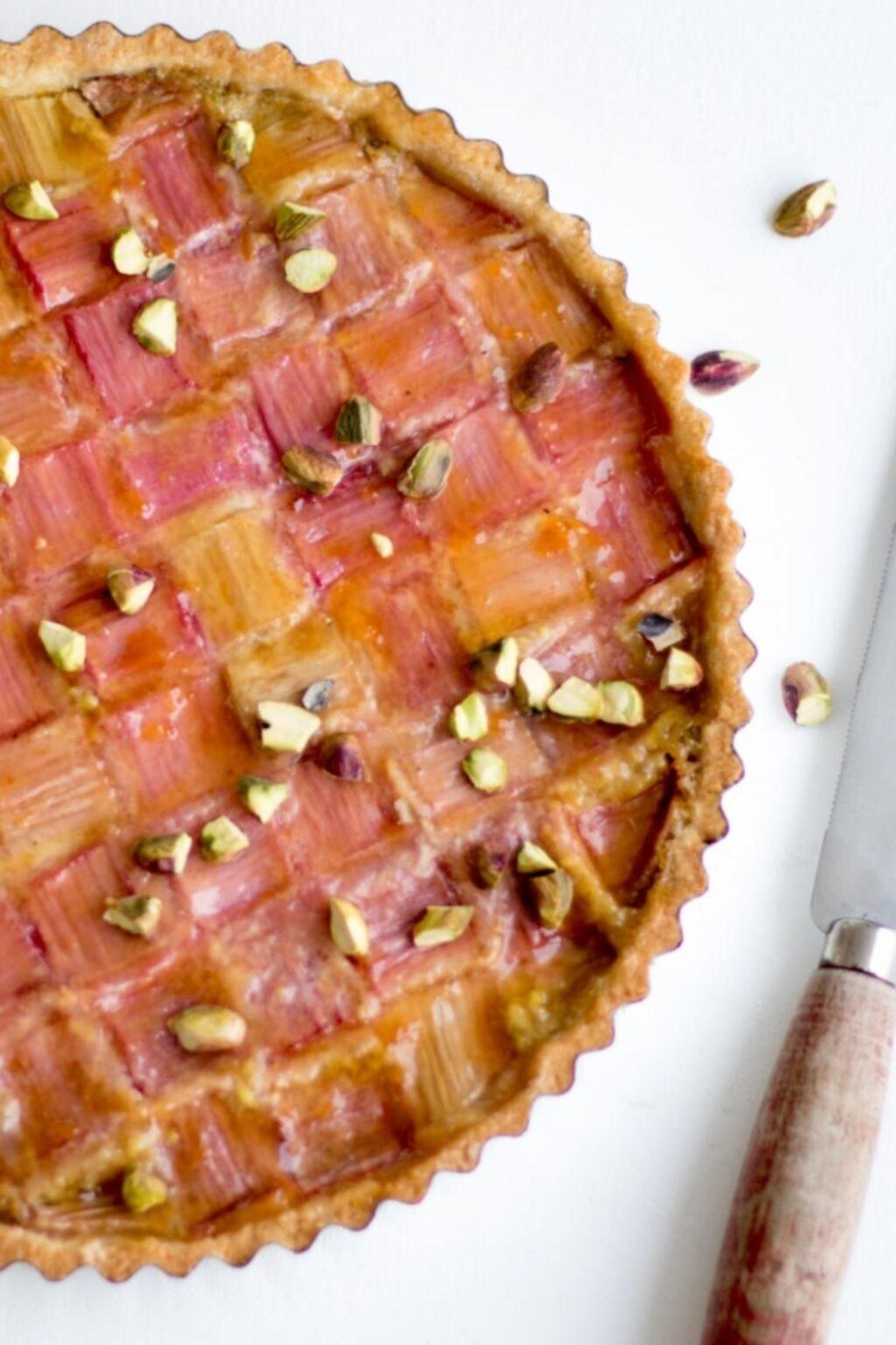 Rabarbertaart met pistache – recept
