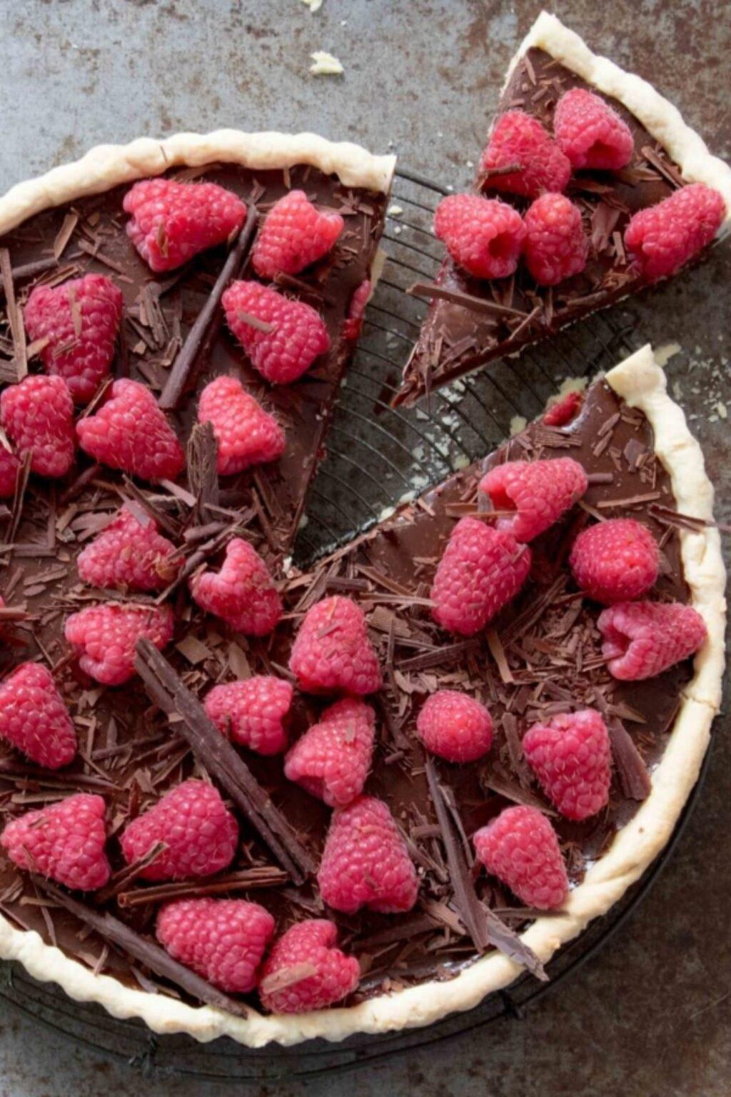 Chocoladetaart met frambozen – recept
