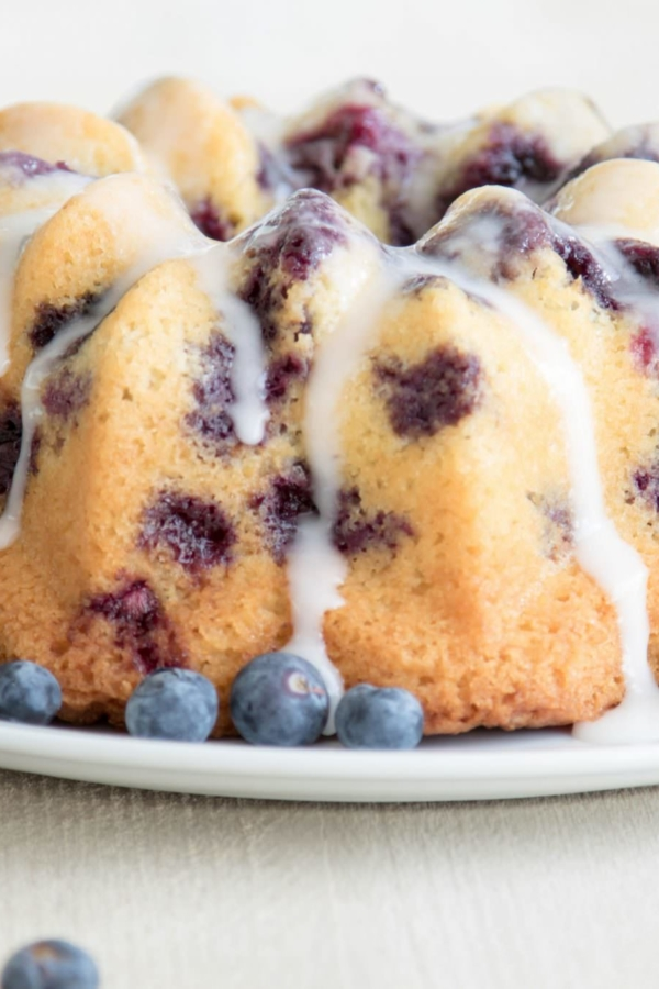Citroencake met blauwe bessen – recept