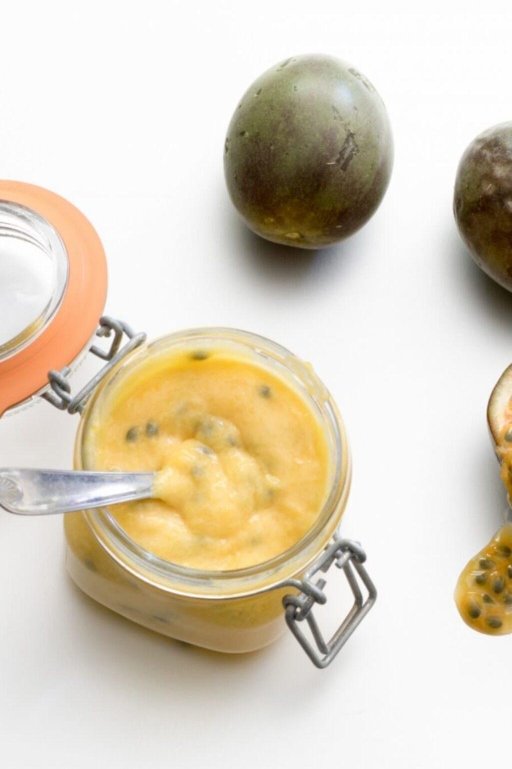 Mango-passievruchtcurd – recept