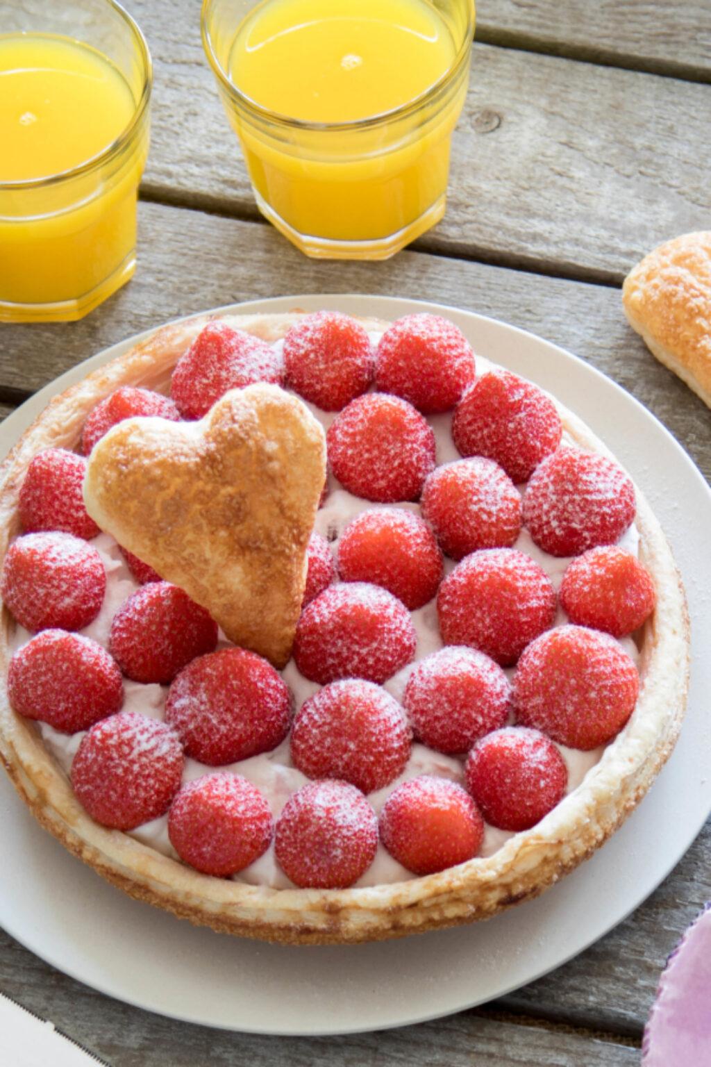 Moederdagtaart met aardbeien – recept