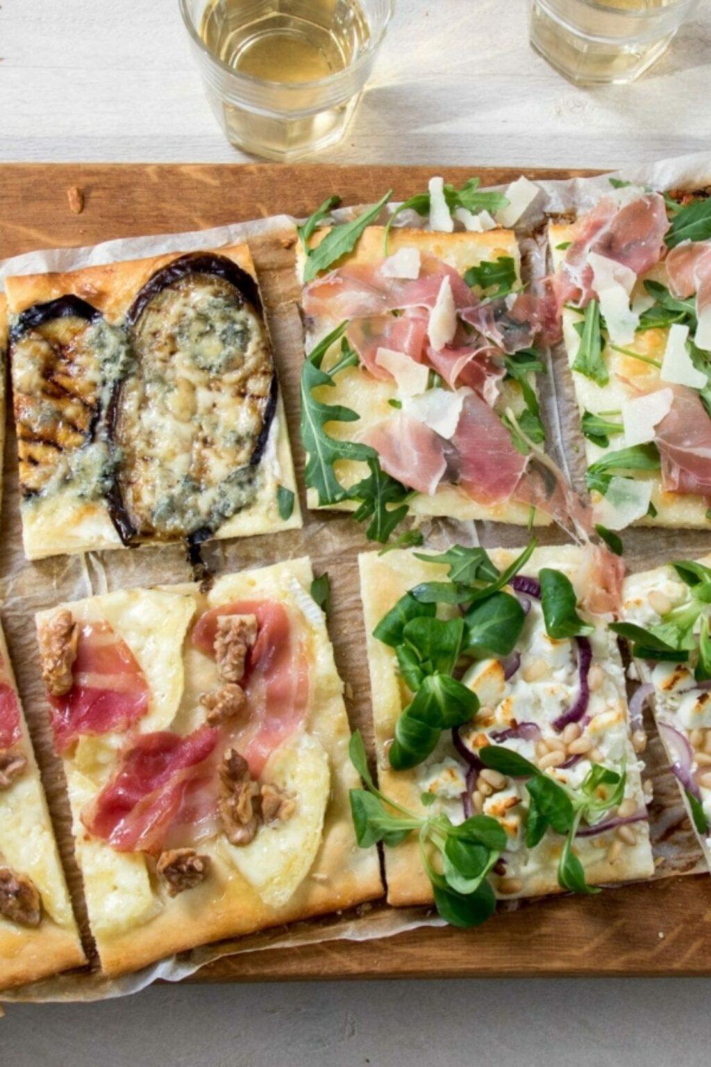 Vier soorten pizza bianca – recept