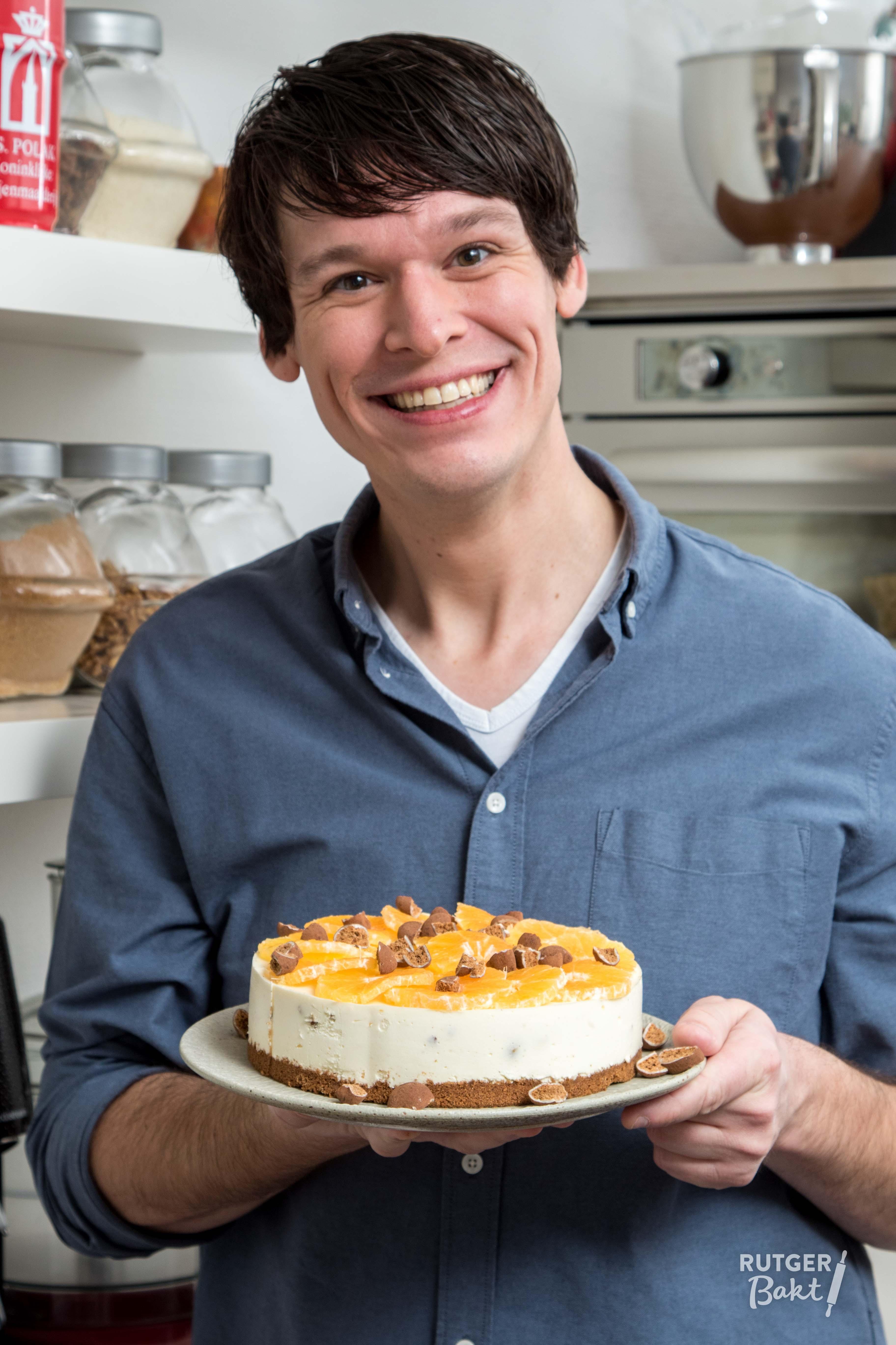 No-bake Philaldelphia cheesecake met kruidnoten en mandarijn