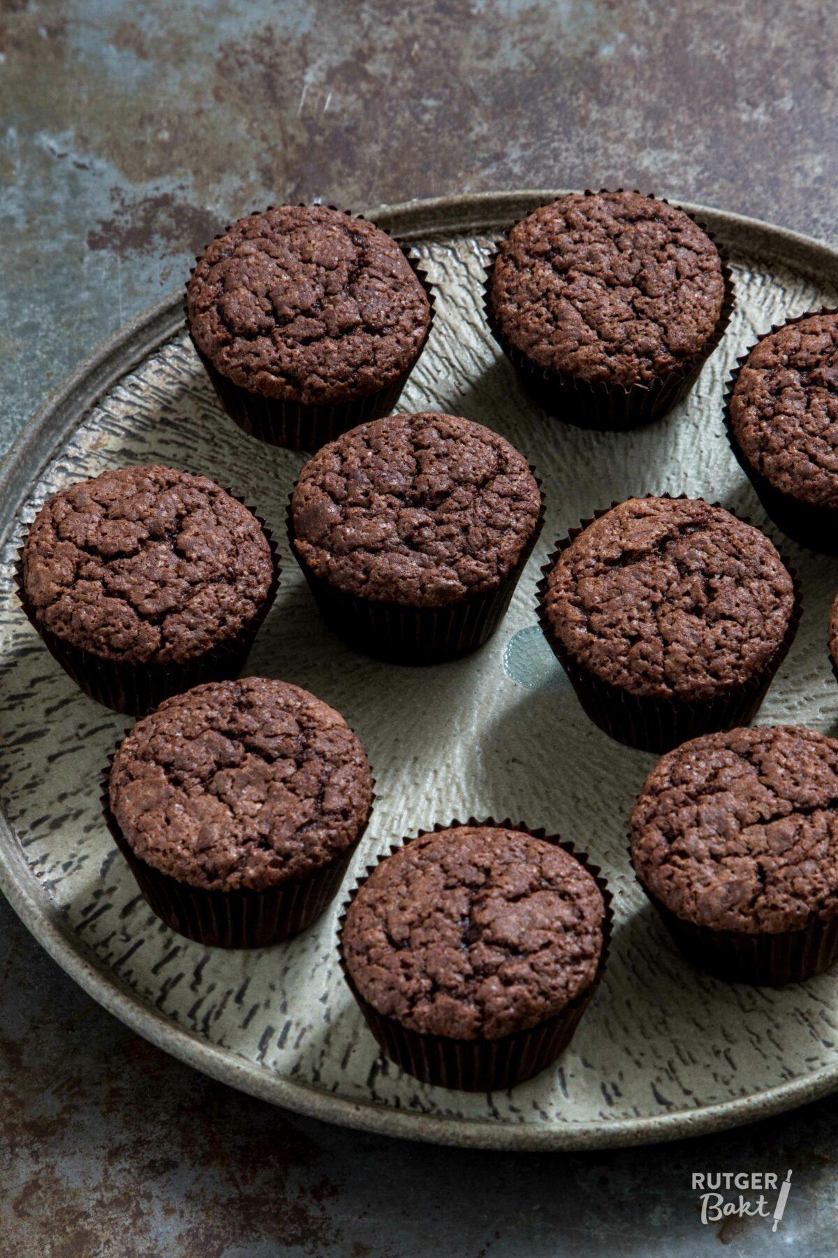 Chocolade cupcakes – basisrecept