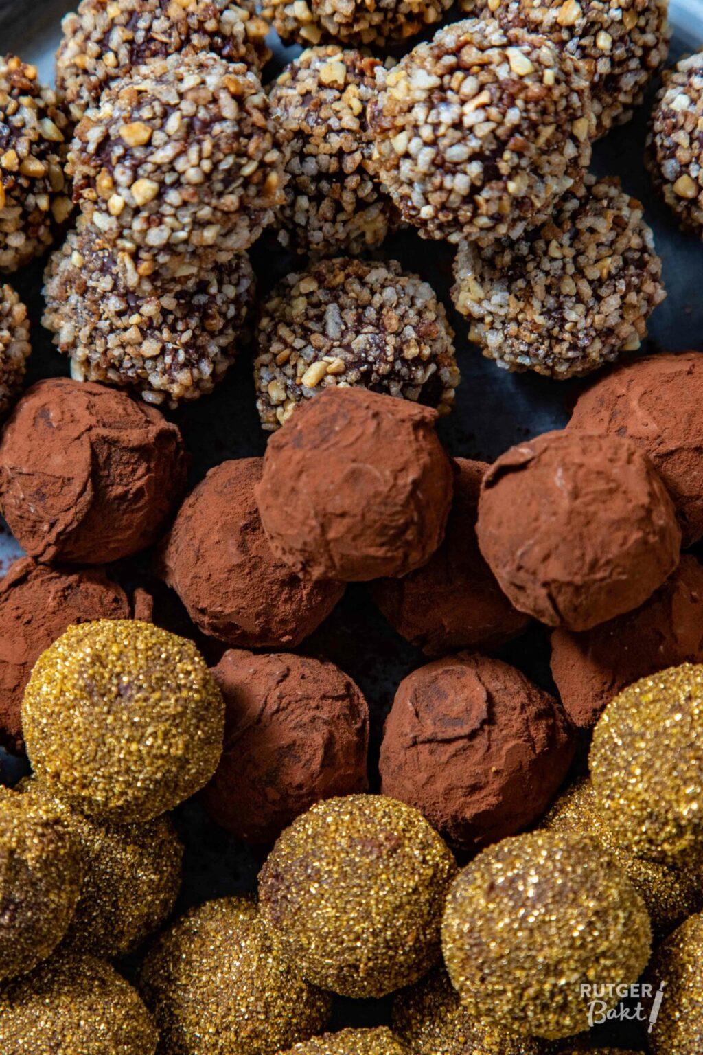 Chocoladetruffels maken met truffelkogels