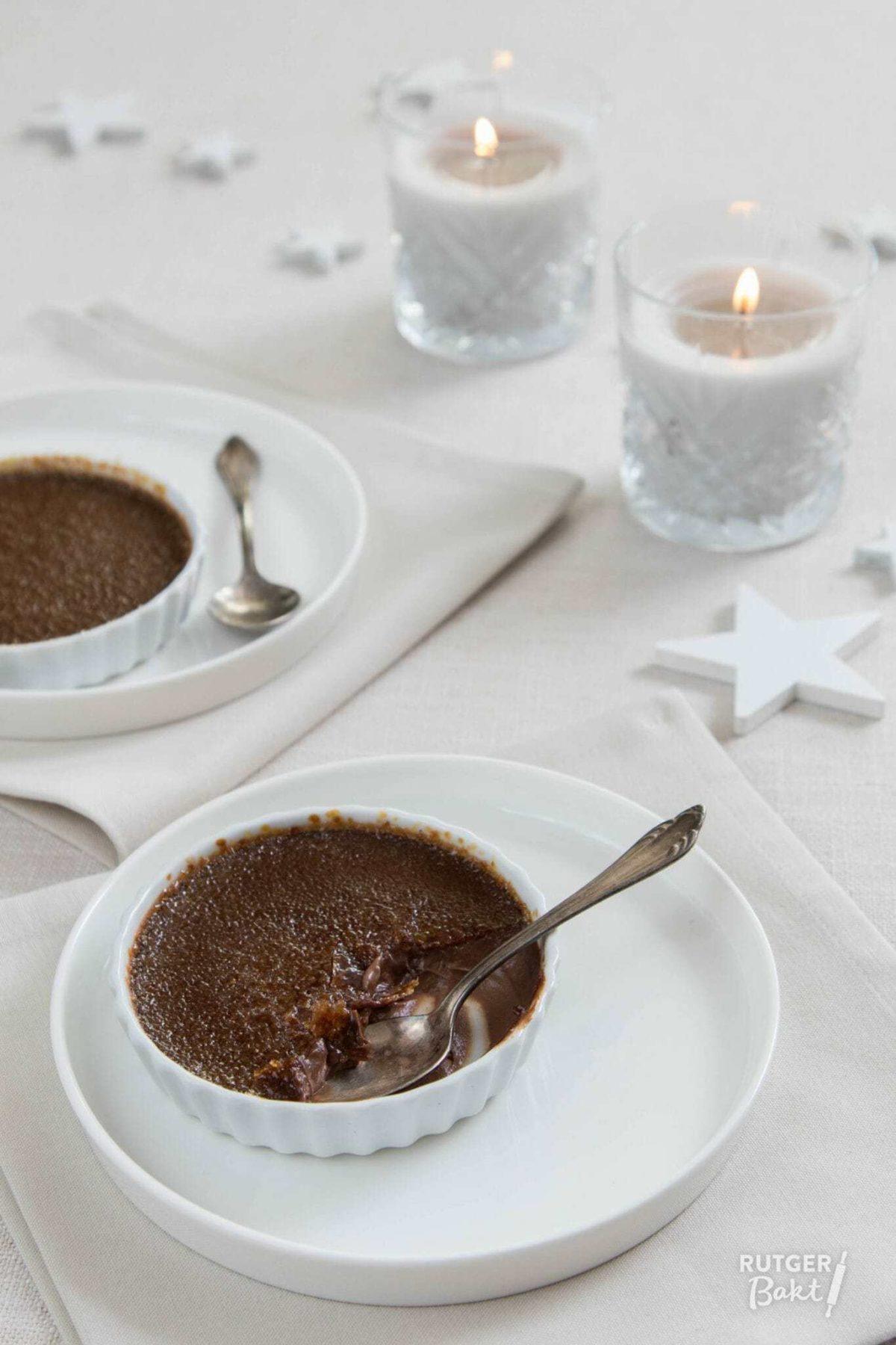 Chocolade crème brûlée – recept