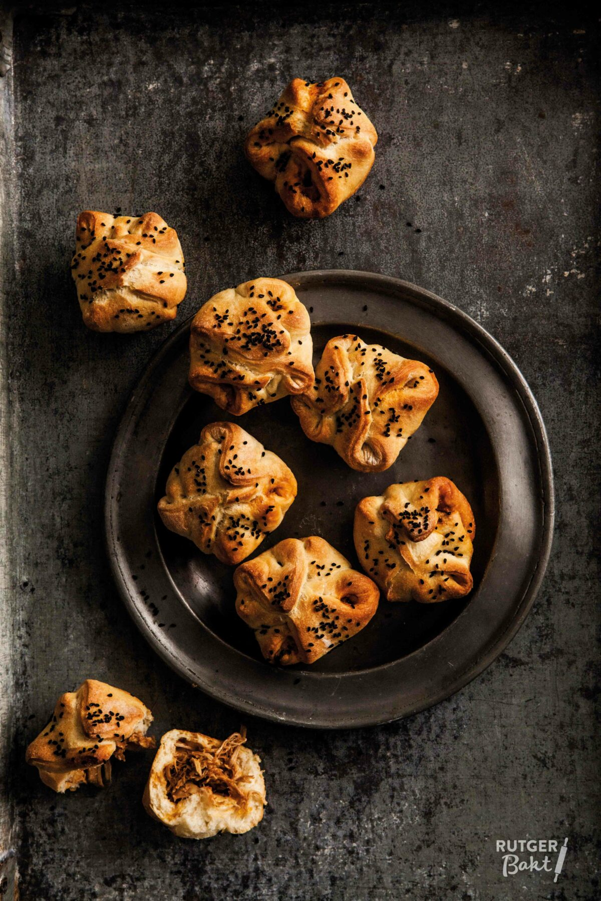 Gevulde broodjes met pulled chicken – recept