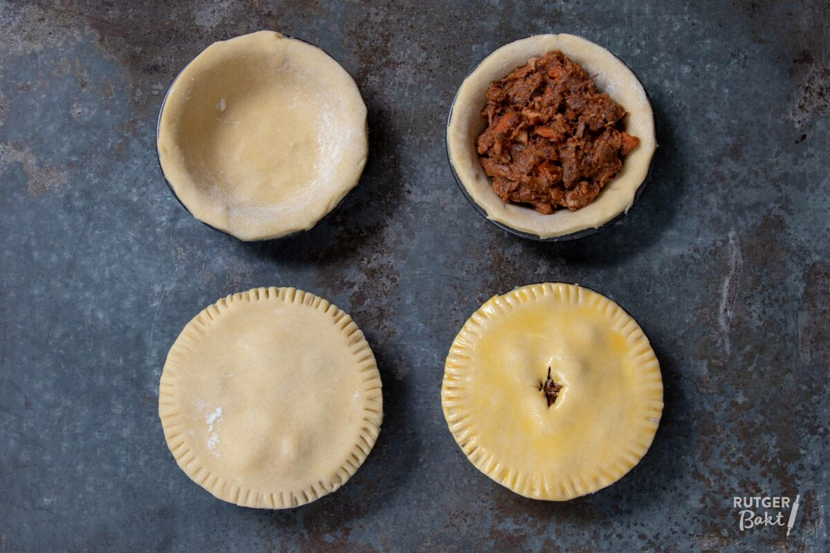Hartige taartjes met stoofvlees