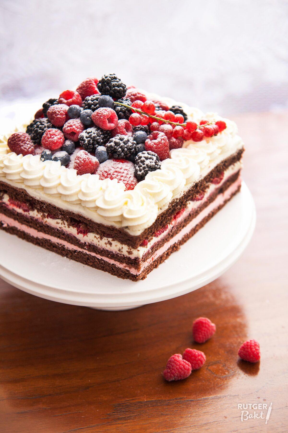 Chocolade-frambozentaart – recept