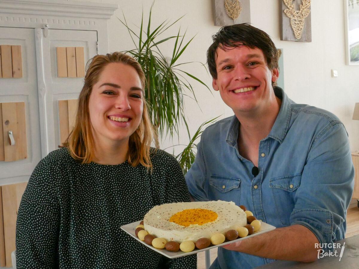 Philadelphia paasei cheesecake met mango