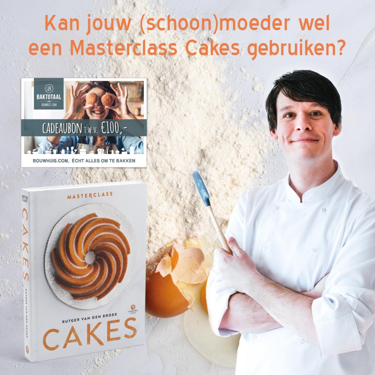 Win 1 van de 10 Masterclass Cakes en 100 euro baktegoed!