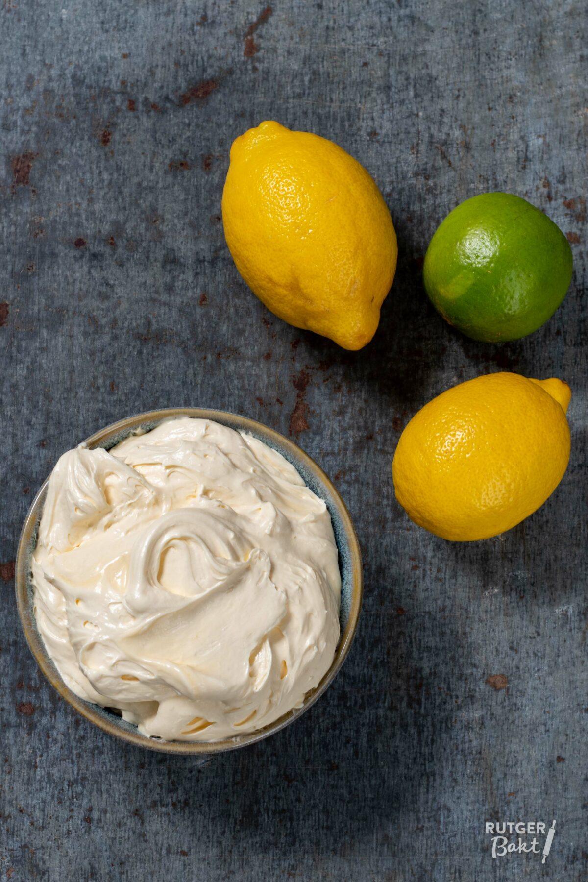 Citroen-limoen taartvulling – recept