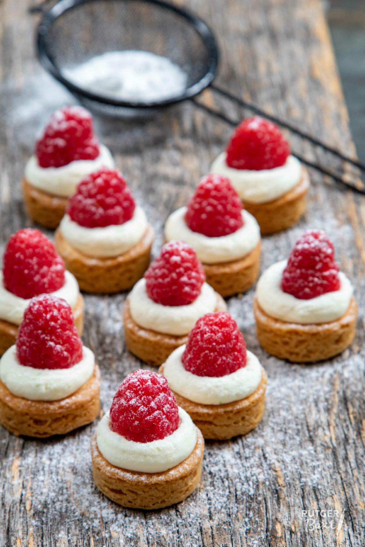 Cheesecake friandises met frambozen – recept