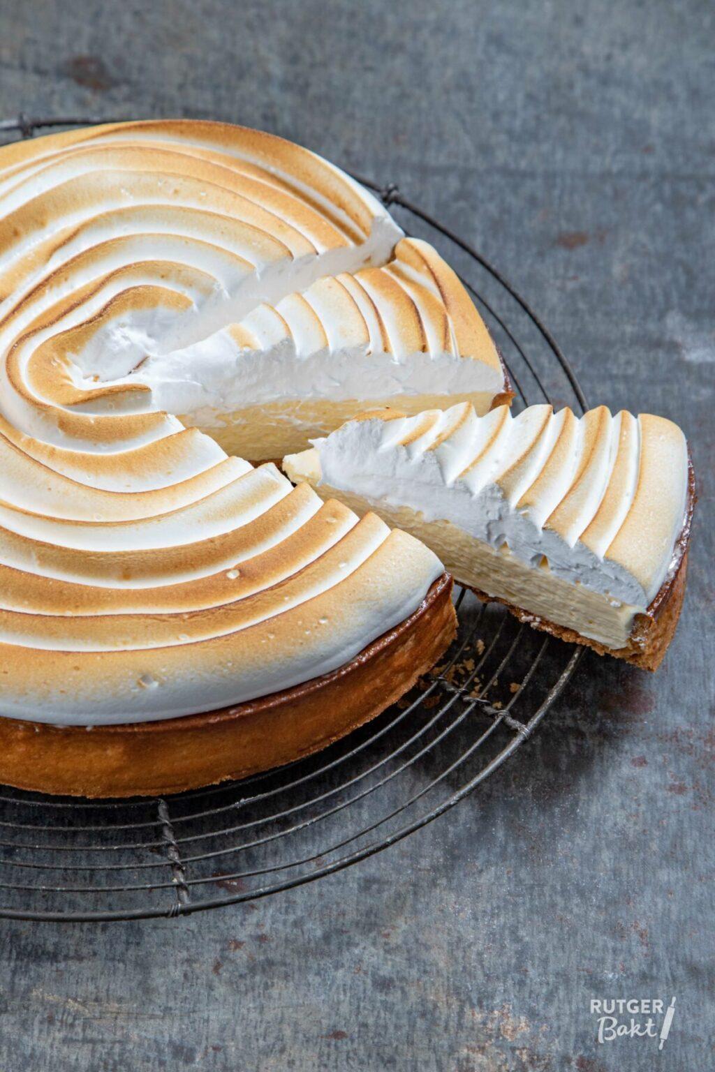 Citroen-limoen taart met meringue – recept