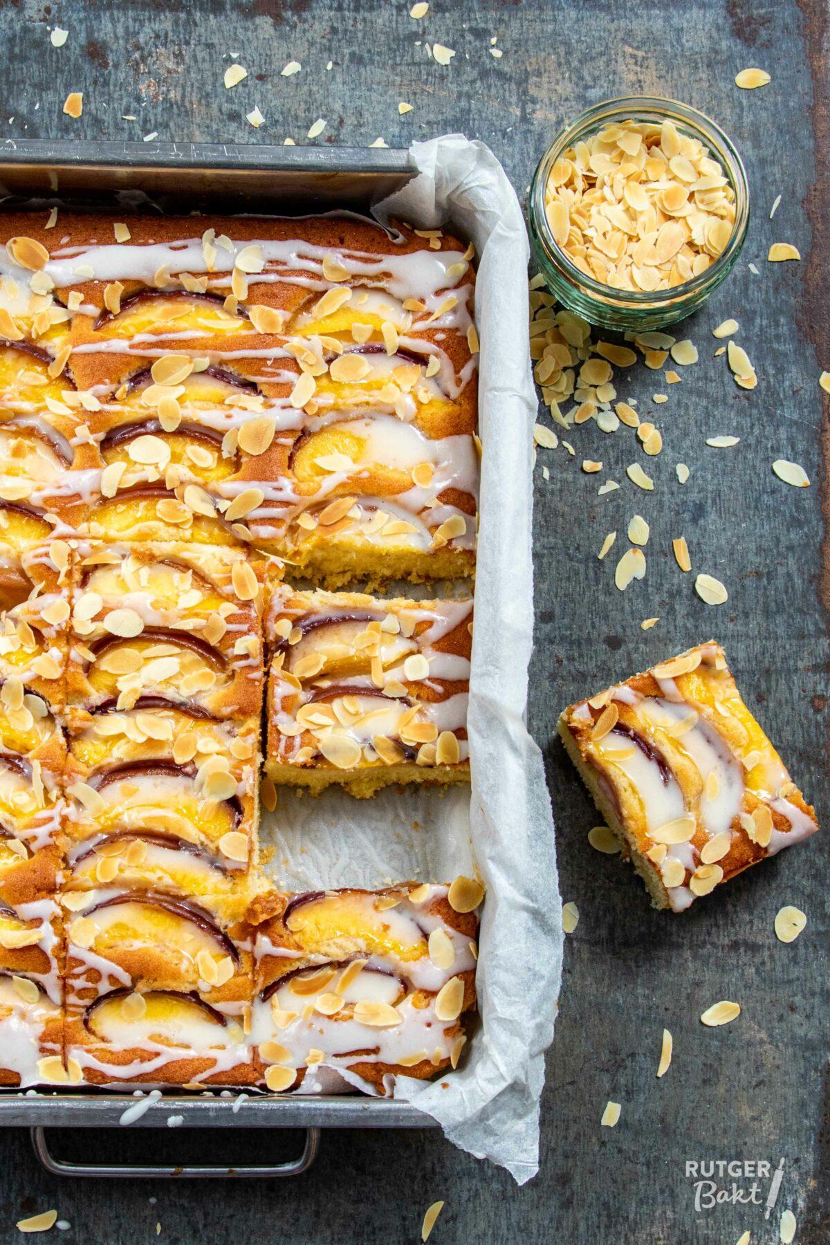Nectarine plaatcake – recept