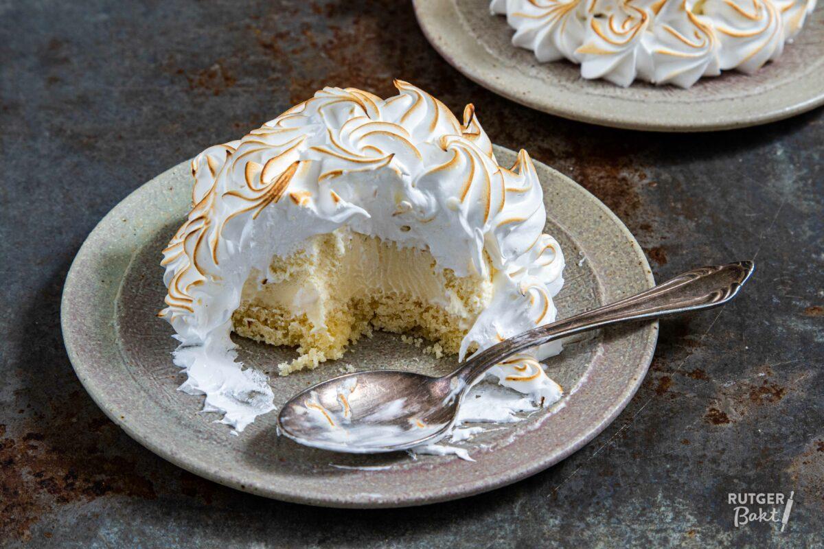 Kleine ijstaartjes met Italiaanse meringue
