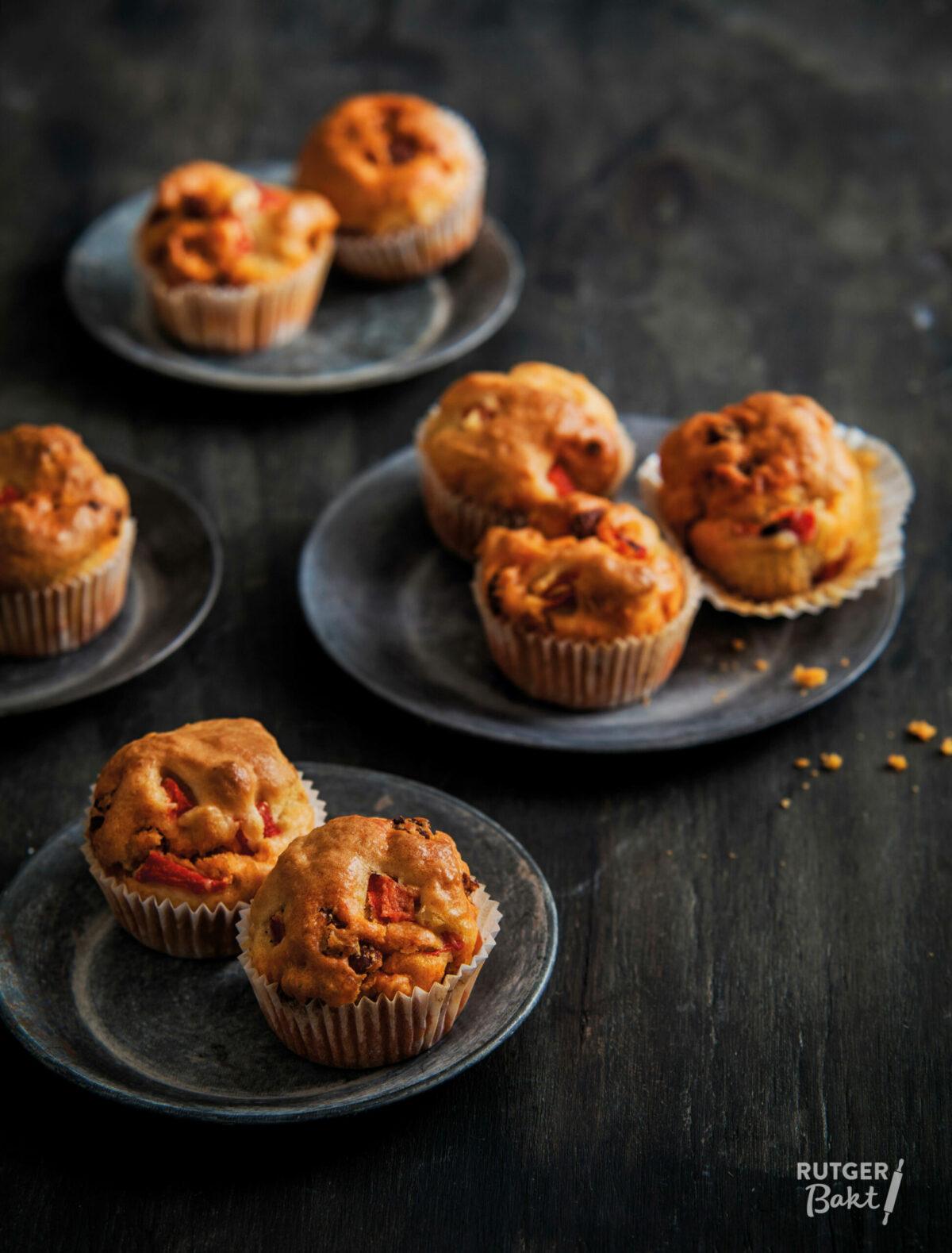 Hartige muffins met chorizo en paprika