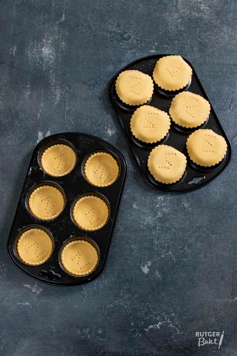 Tartelettes bakken in een cupcake vorm