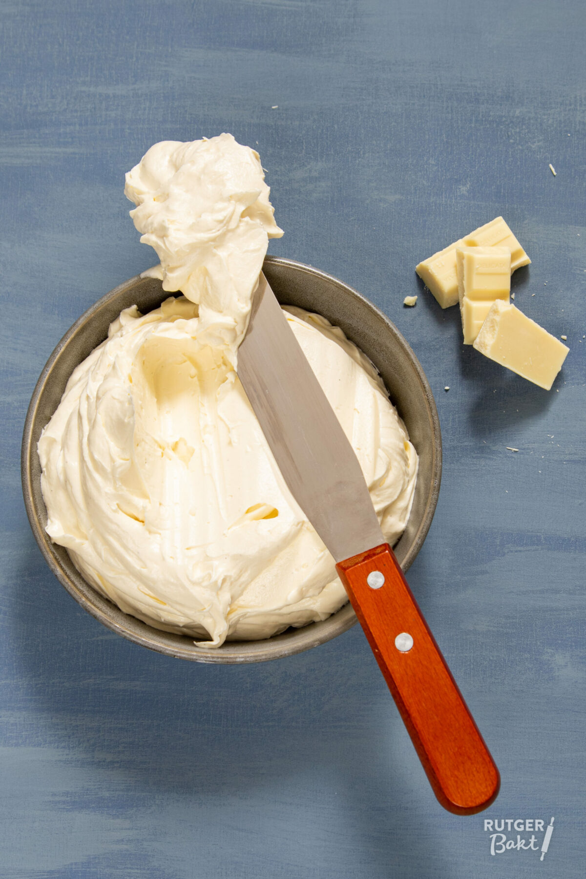 Witte chocolade botercrème