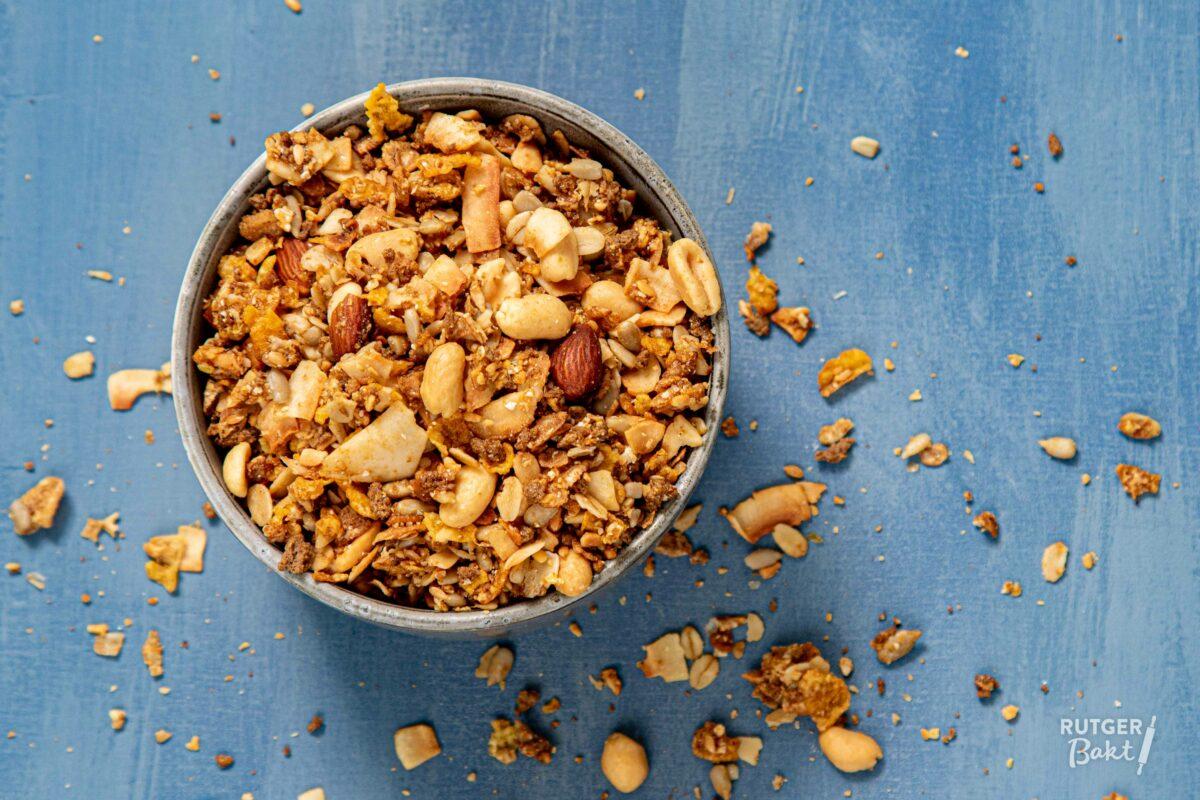 Speltkoeken met granola
