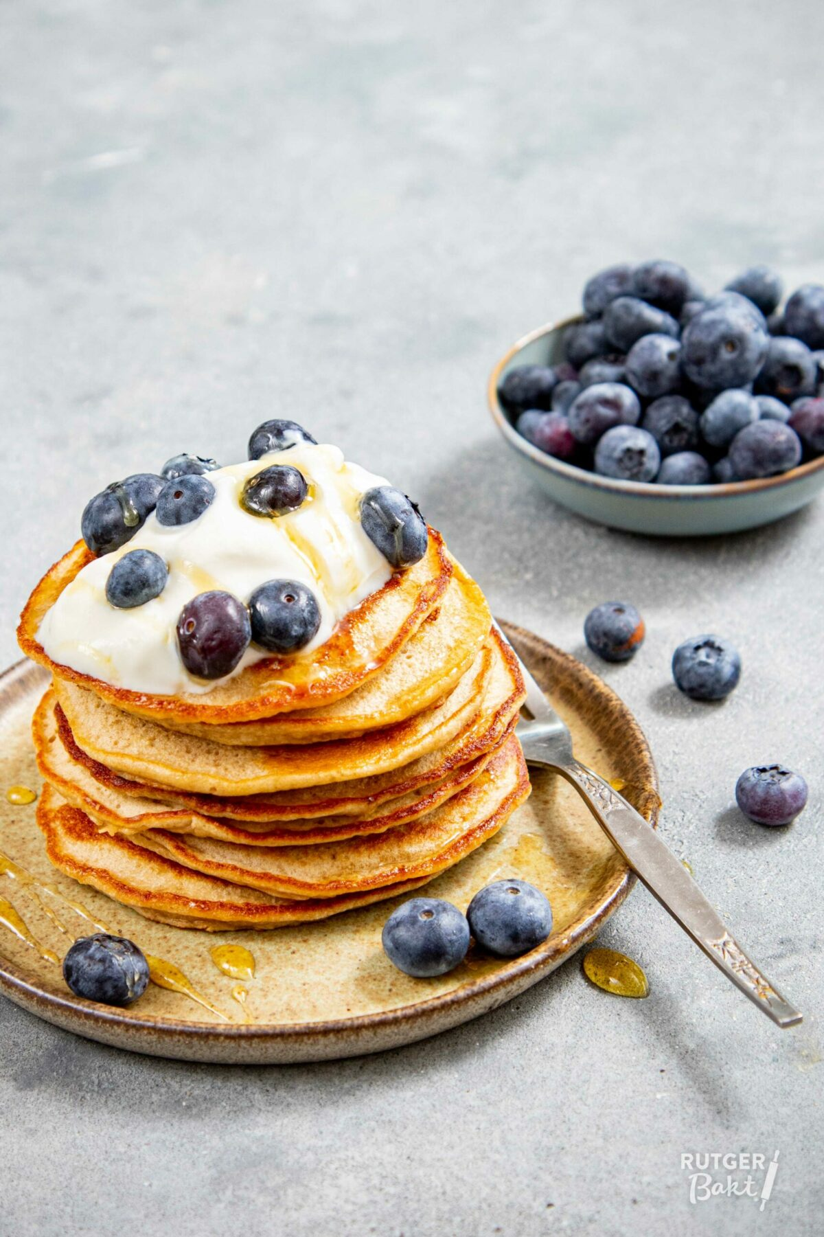 Havermout ontbijt pannenkoeken