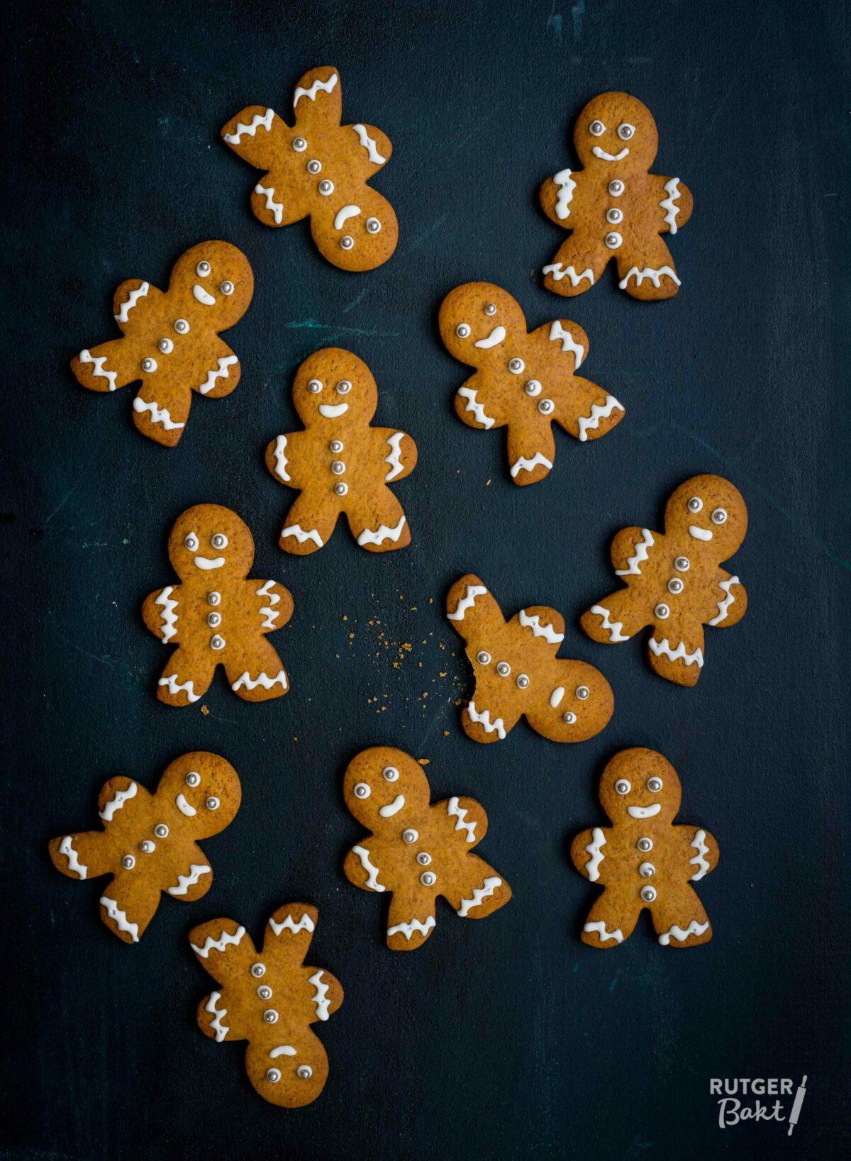 Gingerbread koekemannetjes bakken